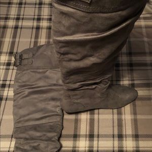 High suede boots NWOT